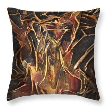 Flowing Tree Woman Throw Pillow
