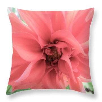 Flows In Softness Throw Pillow by Michele Wright
