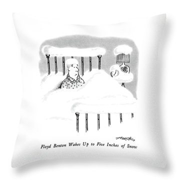 Floyd Benton Wakes Up To Five Inches Of Snow Throw Pillow