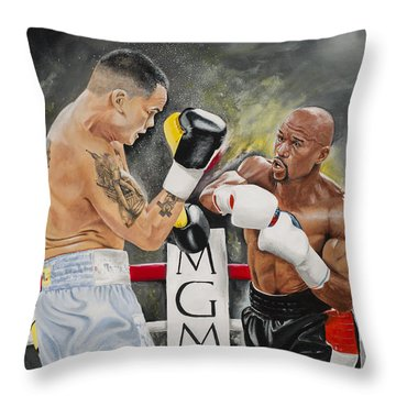 Floyd Mayweather Throw Pillow