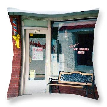 Floyd's Barber Shop Nc Throw Pillow