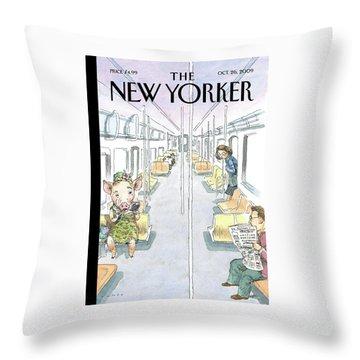 Flu Season Throw Pillow