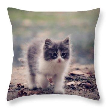 Fluffy Cuteness Throw Pillow