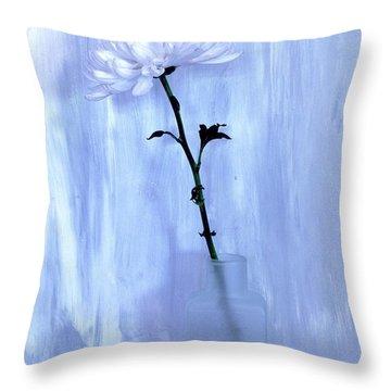 Fluffy Flower Throw Pillow by Marsha Heiken