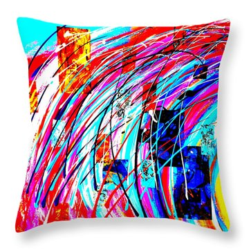 Fluid Motion Pop Art Throw Pillow