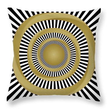 Golden Fluids Throw Pillow