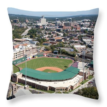 Fluor Field At The West End Greenville Throw Pillow by Bill Cobb