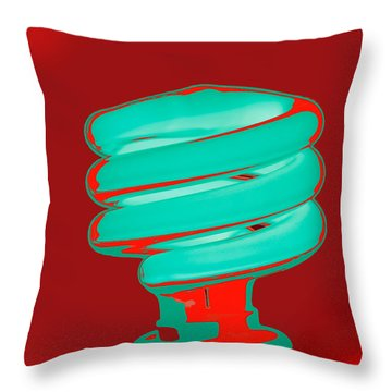 Fluorescent Green Throw Pillow
