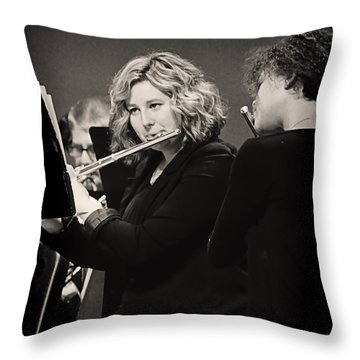 Flute Players Throw Pillow by Ron Roberts