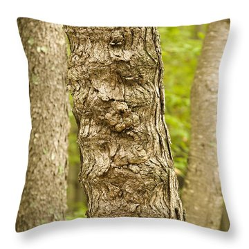 Fluted Tree Throw Pillow