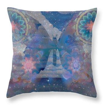 Flutterby Meditation Throw Pillow