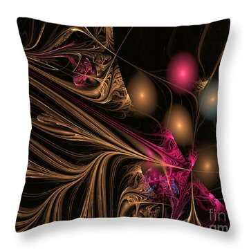 Throw Pillow featuring the digital art Flux Balls by Melissa Messick