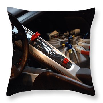Throw Pillow featuring the photograph Flux Capacitor by John Schneider