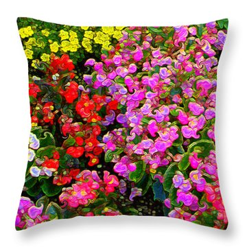 Flwrs Test 1 Throw Pillow