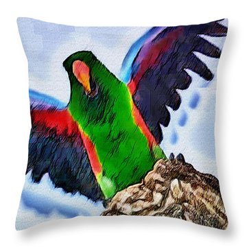 Fly And Shine Throw Pillow