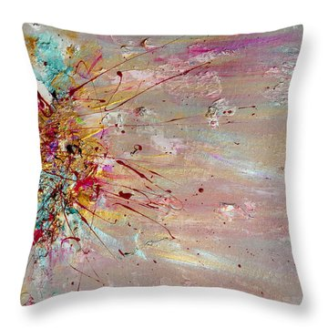 Fly Away Abstract Painting Throw Pillow