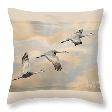 Fly Away Throw Pillow by Alice Cahill
