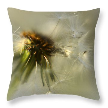 Fly Away Throw Pillow by Camille Lopez