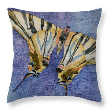 Fly Away Home Throw Pillow by Casey Rasmussen White