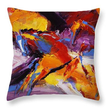 Fly Away  Horse 13 Of 100 2014 Throw Pillow