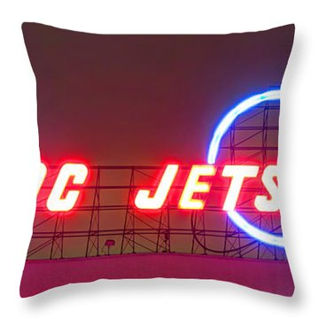 Fly Dc Jets Throw Pillow