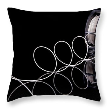 Fly Fishing Reel Throw Pillow