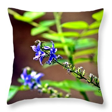 Fly Flower Throw Pillow by Mark Russell