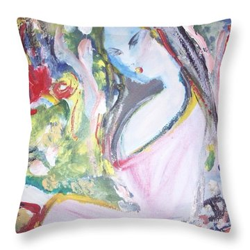 Fly Free Throw Pillow by Judith Desrosiers