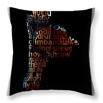 Fly High Supergirl Throw Pillow by Marvin Blaine