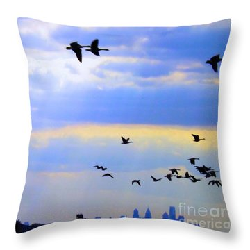 Fly Like The Wind Throw Pillow
