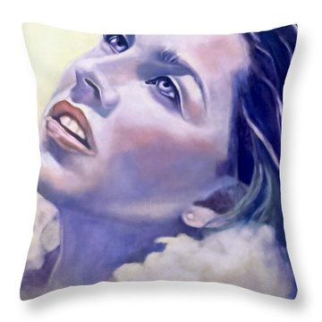 Fly Me To The Moon Throw Pillow by Rebecca Glaze
