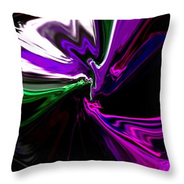 Purple Rain Homage To Prince Original Abstract Art Painting Throw Pillow