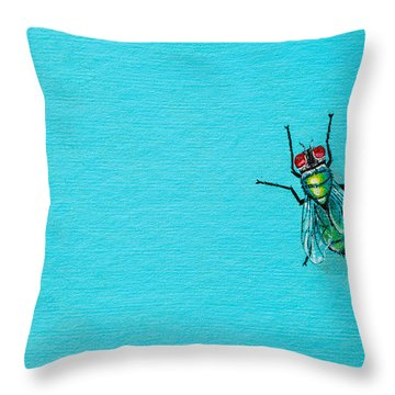Fly On The Wall Throw Pillow