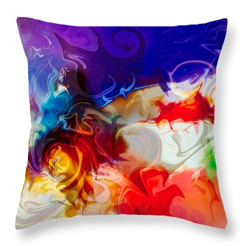 Throw Pillow featuring the painting Fly With Me by Omaste Witkowski