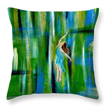 Fly Without Wings Throw Pillow by The Art With A Heart By Charlotte Phillips