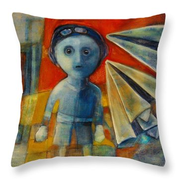 Flyboy Throw Pillow by Jean Cormier