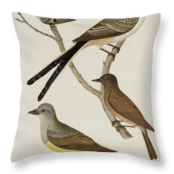 Flycatcher Throw Pillows