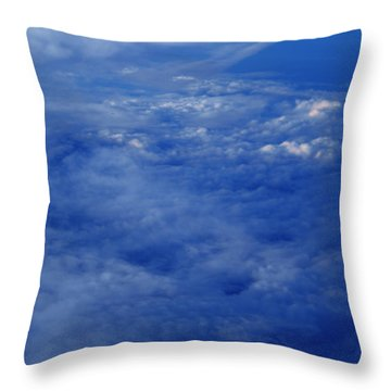 Throw Pillow featuring the photograph Flying Above The Skyes by Colette V Hera  Guggenheim