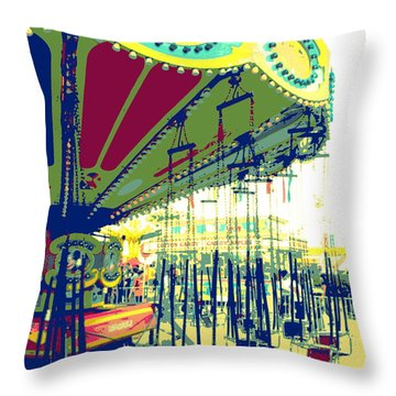 Flying Chairs Throw Pillow by Valerie Reeves