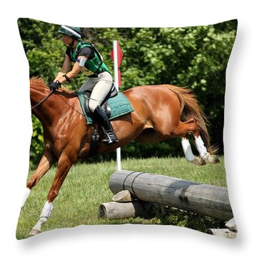 Flying Chestnut Throw Pillow