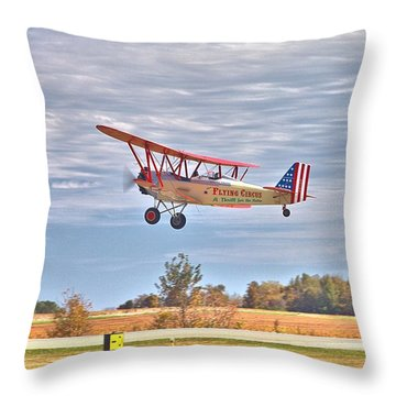Flying Circus Barnstormers Throw Pillow