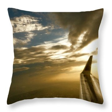 Flying Clouds By David Pucciarelli Throw Pillow