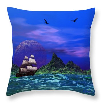 Throw Pillow featuring the photograph Flying Dutchman by Mark Blauhoefer