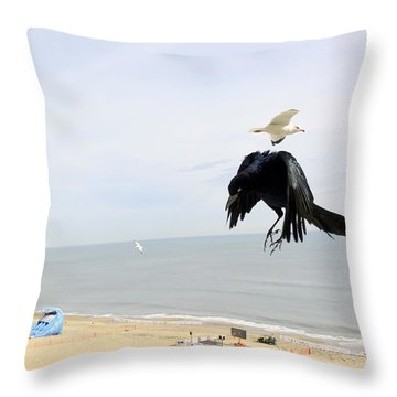 Flying Evil With Bad Intentions Throw Pillow