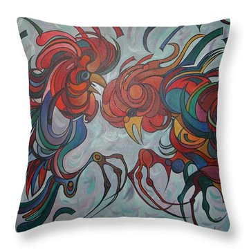 Flying Feathers Throw Pillow by Tracey Harrington-Simpson