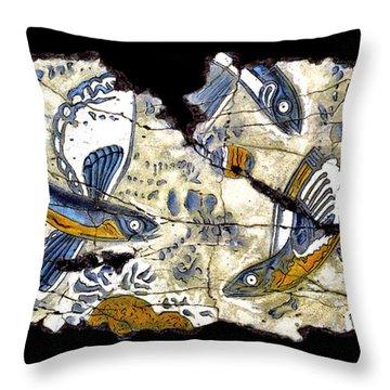 Flying Fish No. 3 Throw Pillow