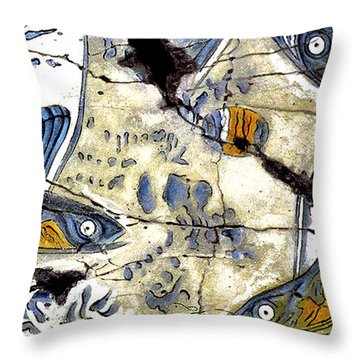 Flying Fish No. 3 - Study No. 2 Throw Pillow by Steve Bogdanoff