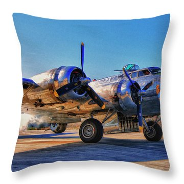 Flying Fortress Sentimental Journey Throw Pillow