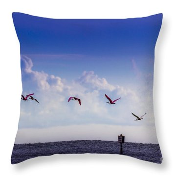 Flying Free Throw Pillow