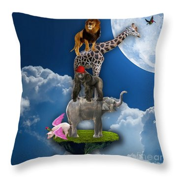 Flying High Above The Clouds Throw Pillow